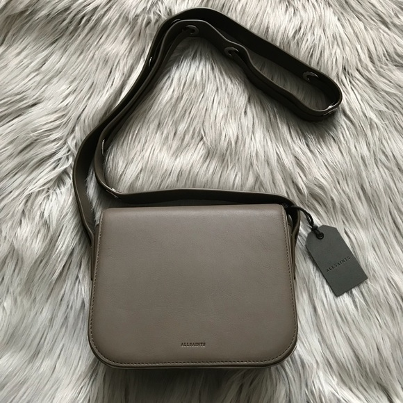 half off on sale online best deals on ALL SAINTS Ikuya Leather Crossbody NWT